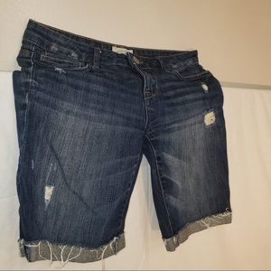 ☀️3/$50 Aeropostale Dark Washed Thigh Denim Shorts